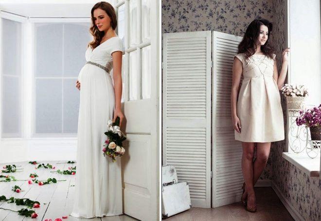 простые свадебные платья для беременных