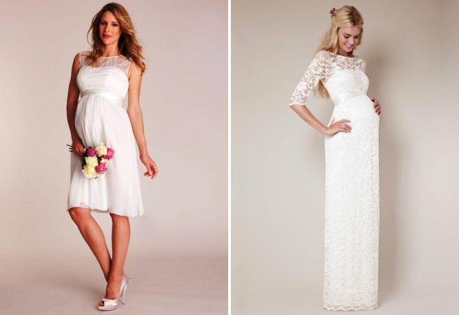 модные свадебные платья для беременных 2017