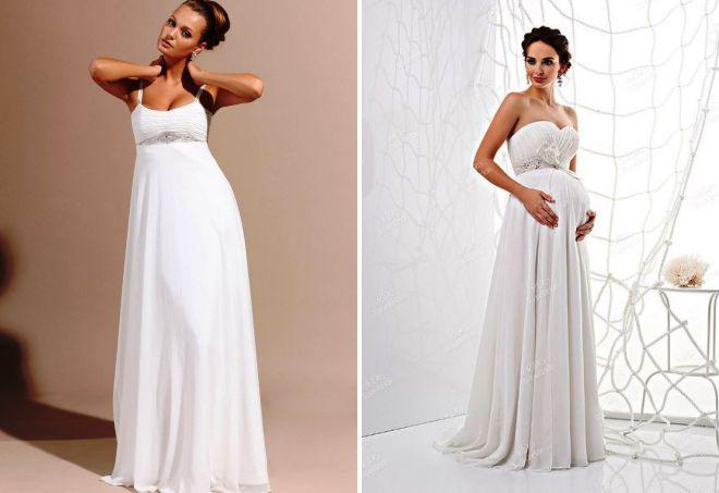 Скрывающие свадебные платья для беременных 66