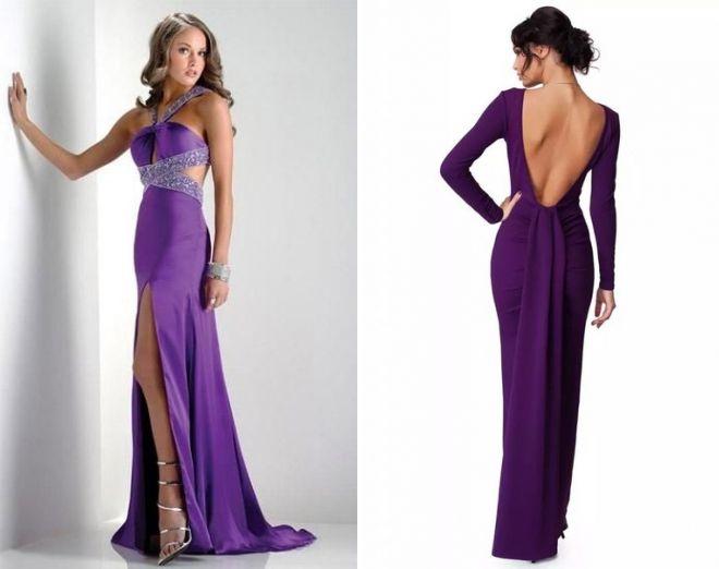 Модные фиолетовые платья актуальный тренд среди вечерних и повседневных нарядов