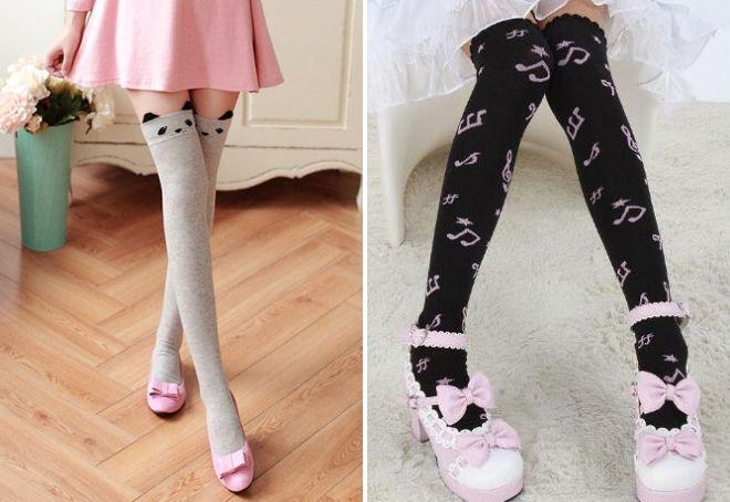 прикольные высокие носки