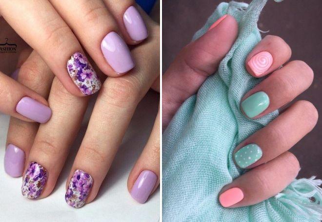 маникюр на короткие ногти модные цвета 2017