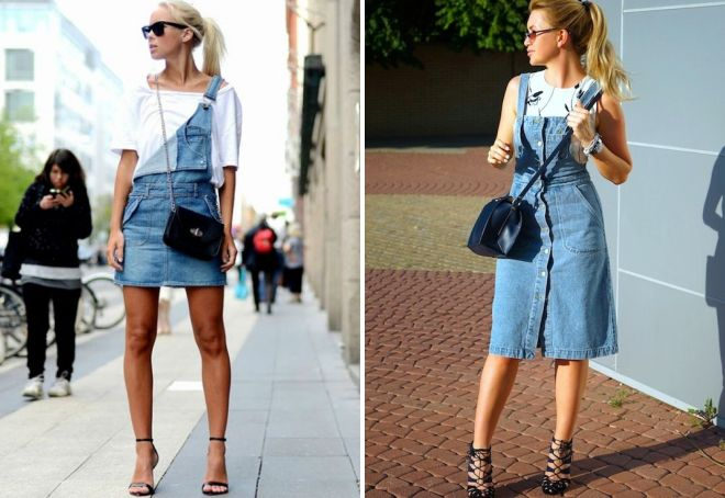 джинсовое платье комбинезон