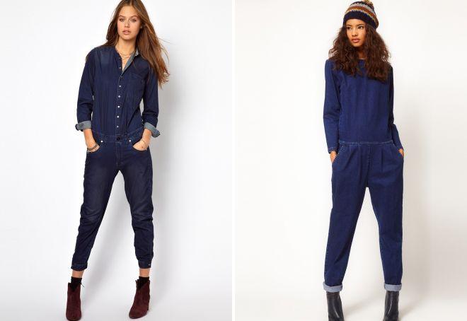 джинсовый комбинезон с рукавами