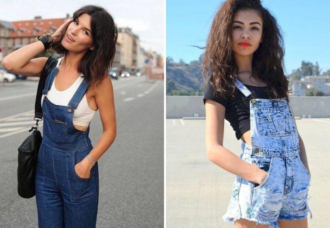 джинсовые комбинезоны для девушек