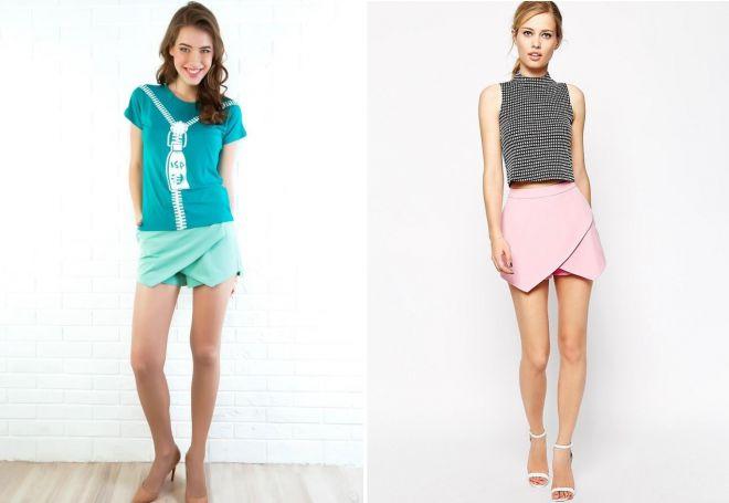 модели юбка шорты