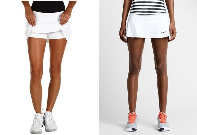 белые шорты юбка