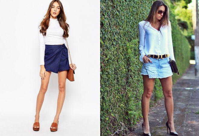 джинсовые шорты юбка