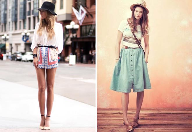 женские летние юбка шорты