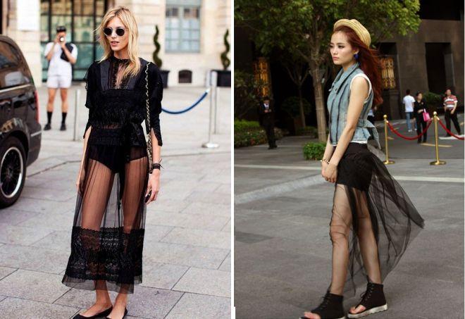 черные шорты юбка