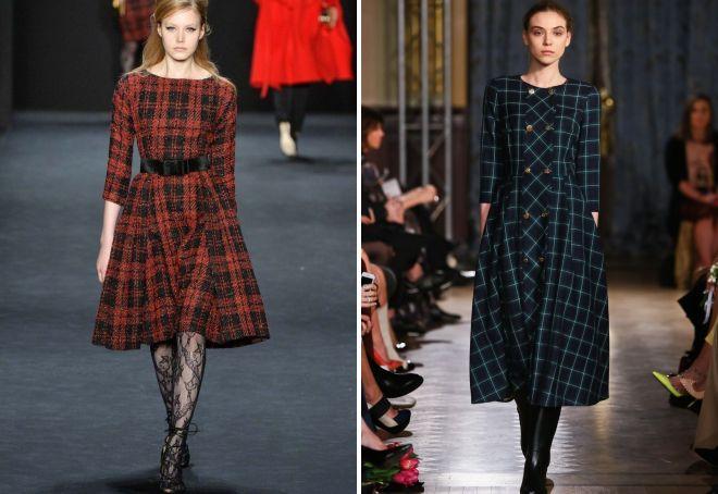 модные платья осень 2017