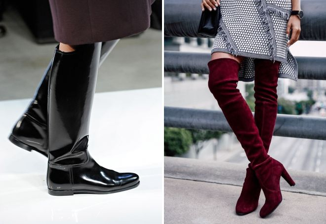 модные сапоги осень 2017