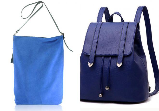 синии кожаные сумки 2017