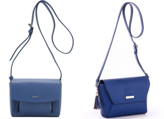 синня сумка через плечо