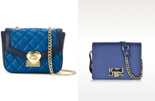 синяя классическая сумка