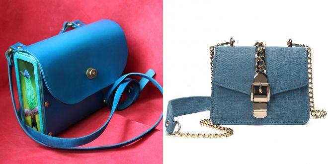 синяя классическая сумка 2017