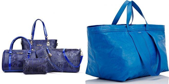 синие сумки 2017