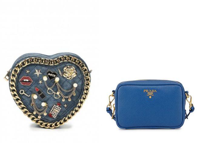 маленькие синие сумки