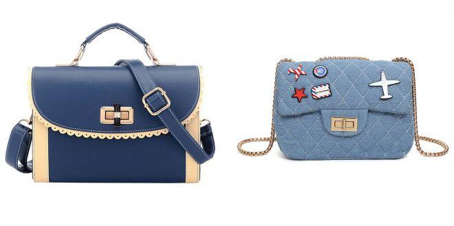 женские маленькие синие сумки