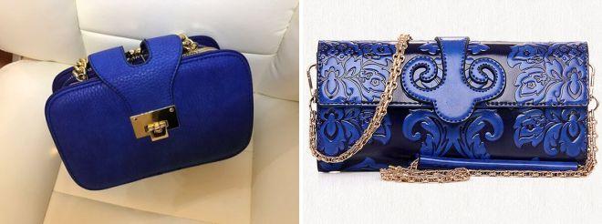 темно синяя сумка