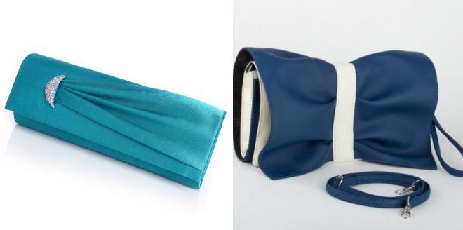 синяя сумка клатч 2017