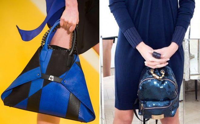 синие сумки 2017 года