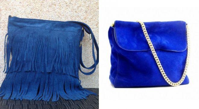 синяя замшевая сумка 2017