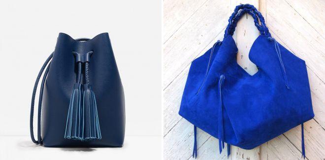 синяя сумка мешок
