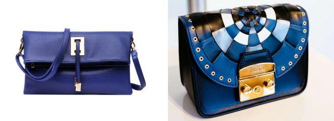женские синии сумки 2017