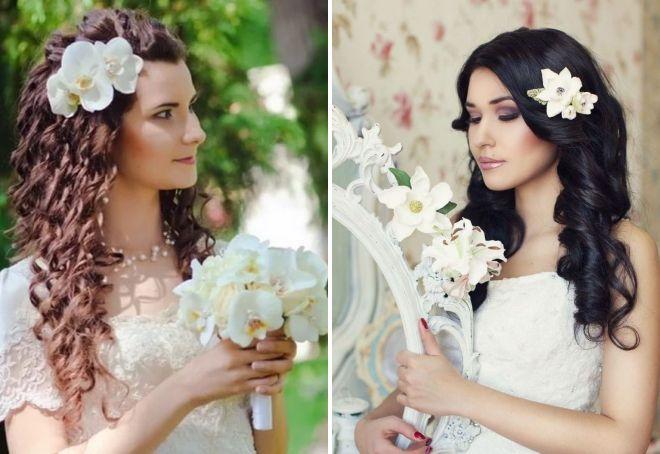утонченные свадебные прически