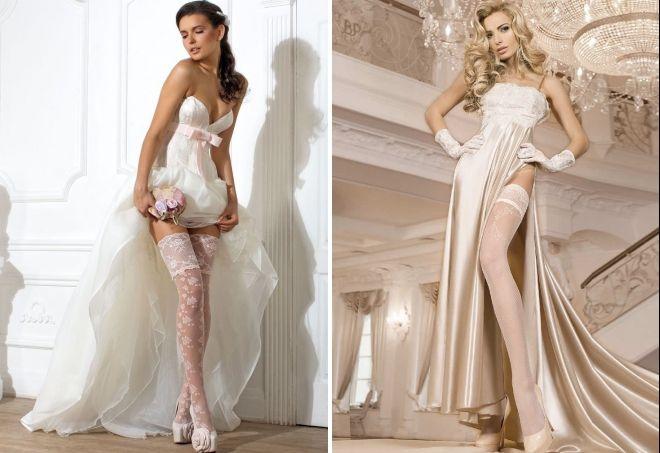 свадебные чулки айвори