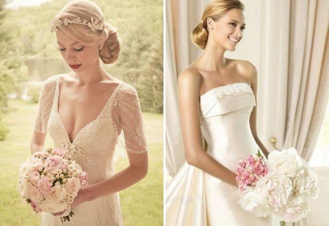 свадебный букет под платье айвори