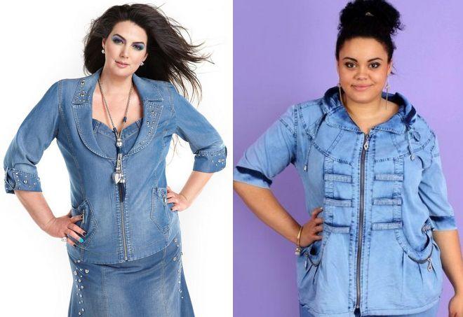 джинсовый кардиган для женщин после 50 лет