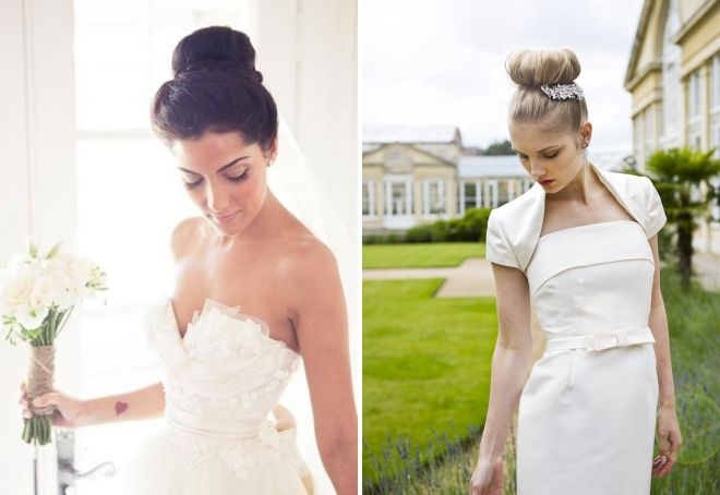 стильные свадебные прически