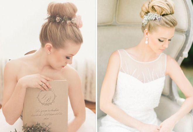 свадебные пучки с украшением