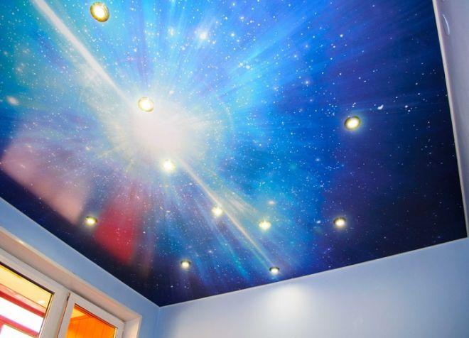 потолок звездное небо в детской