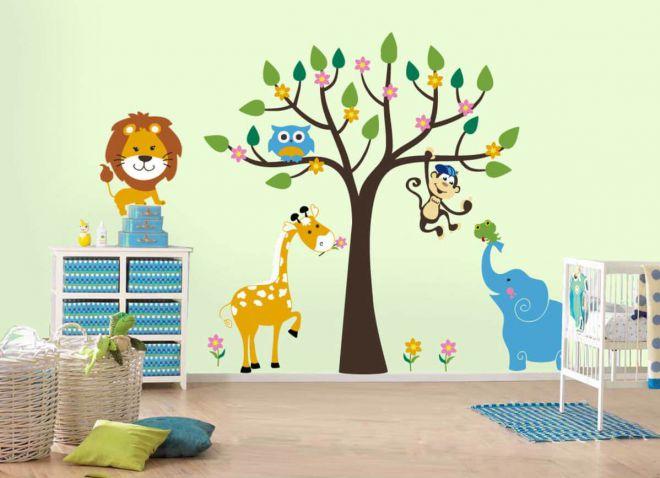 наклейки для декора стен в детской
