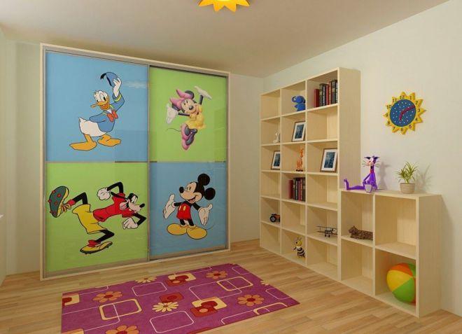 декор шкафа в детской