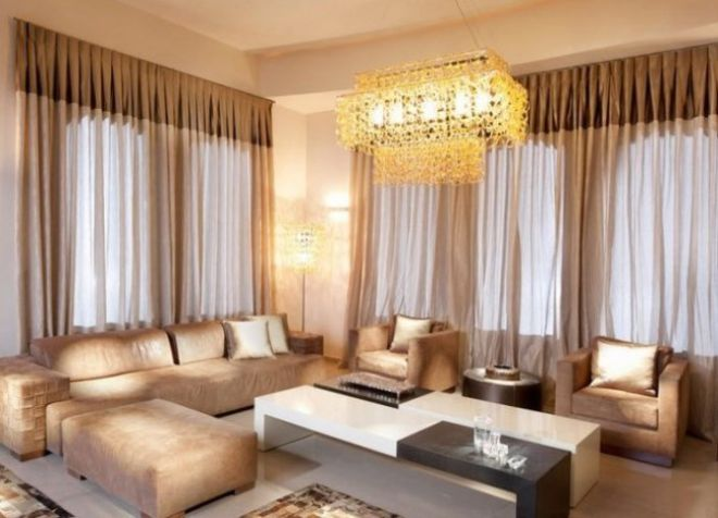 теплые шторы в гостиной