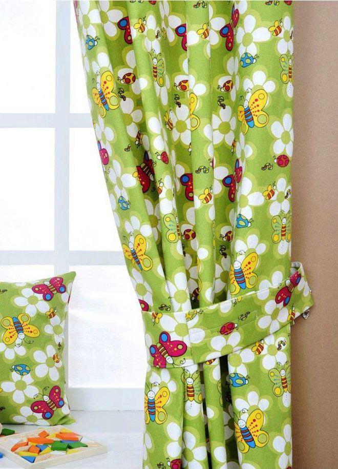 натуральные шторы в детскую