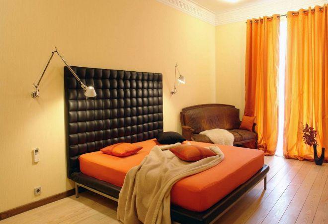 оранжевая спальня по фэн шуй