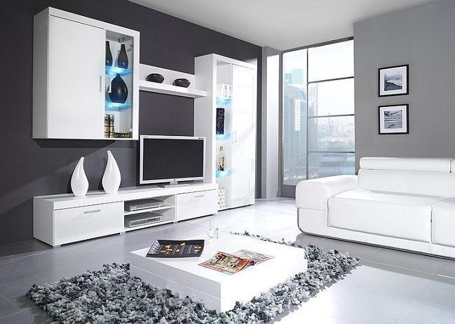 белая стенка в гостиную