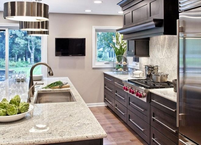 fernseher in küche