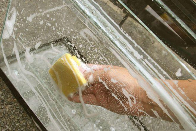 как мыть аквариум перед запуском