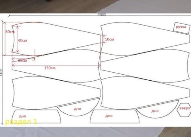 чертеж кресла груши