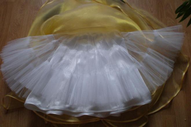 как накрахмалить подъюбник платья
