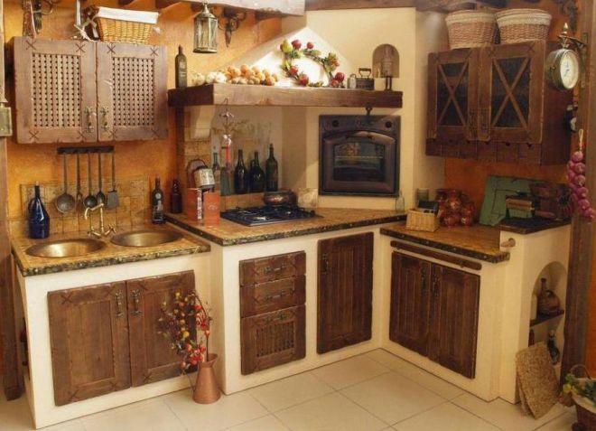 маленькая кухня кантри