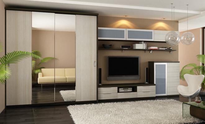 Ontwerp van de woonkamer in een moderne stijl