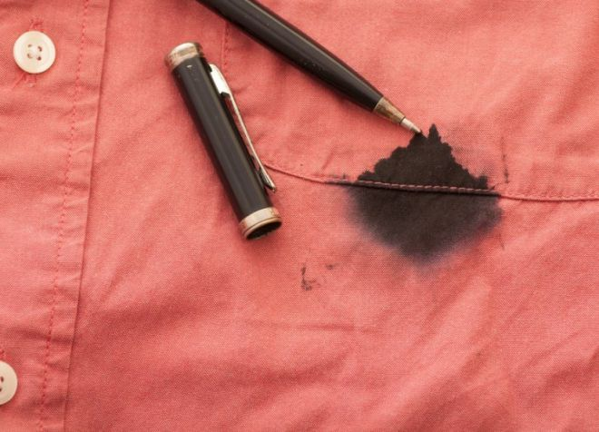 Как вывести пятно от чернил шариковой ручки на одежде фото