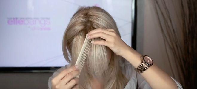 косая рваная челка на бок